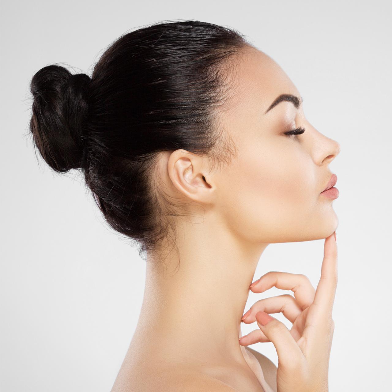 Skincare treatment clinic patient
